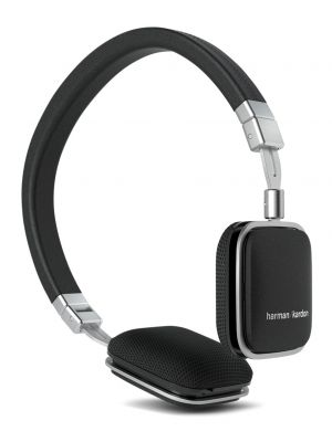 Harman Kardon HKSOHOIBLK On-Ear Heaphones with iOS Device Compatible Remote (Black)