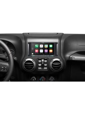 Alpine i207-WRA 7 Weather Resistant Restyle Mech-less In-Dash System for 07-17 Jeep Wrangler (i207WRA)