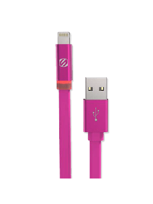 Scosche I3FLEDPK Charge & Sync Cable with Charge LED for Lightning USB - Pink