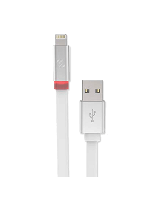Scosche I3FLEDWT Charge & Sync Cable with Charge LED for Lightning USB - White