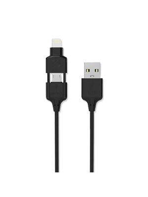 Scosche I3M Charge & Sync Cable for Lightning/micro USB - Black
