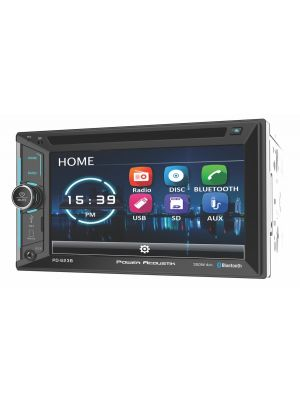 Power Acoustik PD-623B Double DIN Bluetooth In-Dash DVD/CD/AM/FM Car Stereo Receiver w/ 6.2