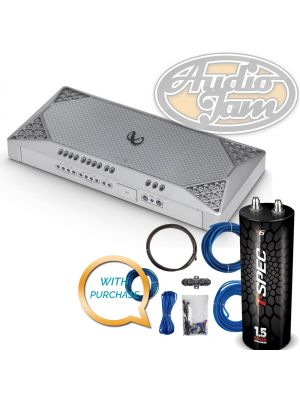 Infinity M4555A Marine Grade / 5-Channel, 45w X 4, 500w X 1 amplifier with Amp Kit & Capacitor (BUNDLE PACKAGE)