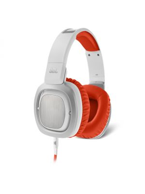 JBL J88 Over-Ear Headphones with In-Line Controls (White and Orange)