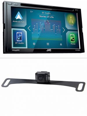 JVC KW-V830BT Double-DIN DVD Receiver w/ Built-In Bluetooth with FREE BOYO VTL17IRTJ Dual-Mount Camera