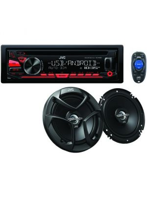 JVC KD-PKR780BT Receiver with Bluetooth and a Pair of 6.5