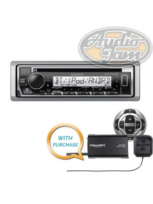 Kenwood KMR-D375BT Marine Bluetooth CD receiver with KCA-RC35MR Marine Remote Control & SiriusXM SXV300v1 Tuner