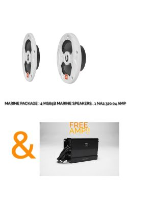 JBL Marine Package MS65LB Speakers + NA2-3204 Marine grade Amp