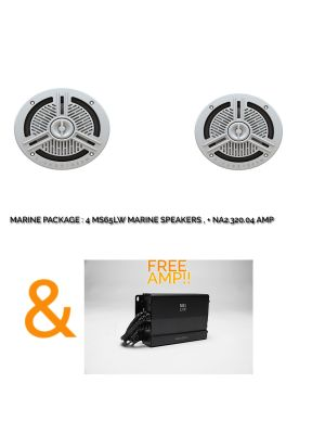 JBL Marine Package MS65LW + NA320.4 Amp