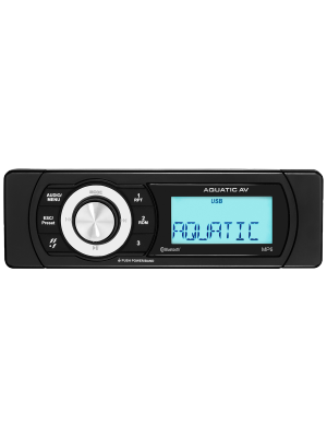 Aquatic AV MP6 Shallow Mount Bluetooth & USB Waterproof Marine Stereo