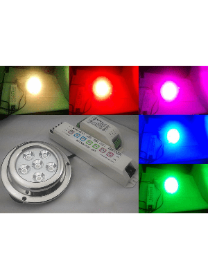 Race Sport MS-6A1-6X3RGB 6x3W CREE LED Marine Light - RGB