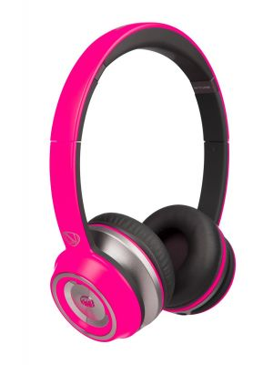 Monster® NC-MH-NTU-ON-SAN-PNK-WW NCredible NTune Neon On-Ear Headphones with ControlTalk Universal™ (Satin Neon Pink)