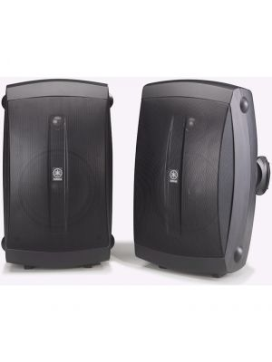 Yamaha NS-AW350BL High Performance Indoor / Outdoor 2-way Speakers (Black)