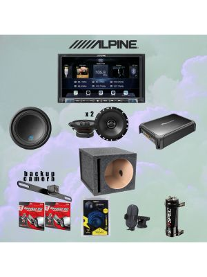 Alpine ILX-207 Digital multimedia receiver with Android Auto™ and Apple CarPlay® Super Bundle