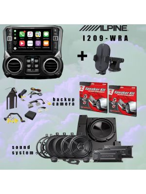 Alpine I209-WRA Receiver/ Sound system and Rearview camera bundle PLUS MORE