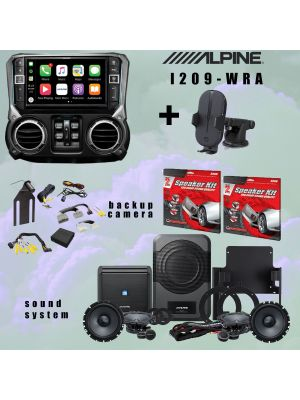 Alpine I209-WRA Receiver/ Sound system and Rearview camera SUPER bundle