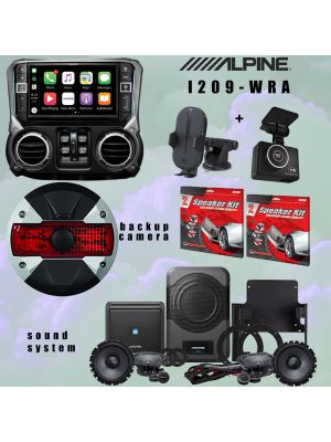Alpine I209-WRA Receiver/ Sound system and Rearview/ Dash camera Alpine Restyle PSS-22WRA bundle