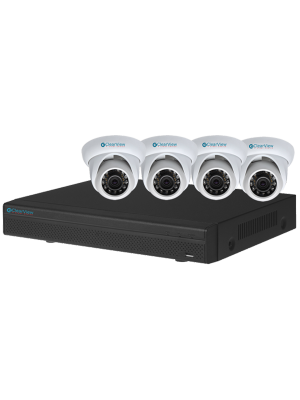 Clearview PANTHER08HD-4D-TRI 8 Channel HD-AVS DVR PantherView Kit 4 Dome 1080P Cameras w/1TB (PANTHER08HD4DTRI)
