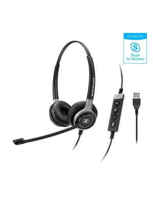Sennheiser SC630/660USBML Century™ Premium Wired Headset w/ ActiveGard® Sound Protection Technology (USBML for Skype for Business)
