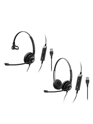 Sennheiser Circle™ SC230/260USBCTRLII Headset w/ ActiveGard® Hearing Protection & Softphone USB Connection