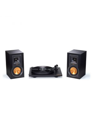 Klipsch Black R-15PM & Pro-Ject Primary Turntable Pack - R15PMTURNTABLEBUNDLE