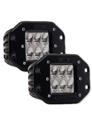 Rigid RIG51232 Flush Mount D2-Series Dually Driving Lights - Amber (Pair)