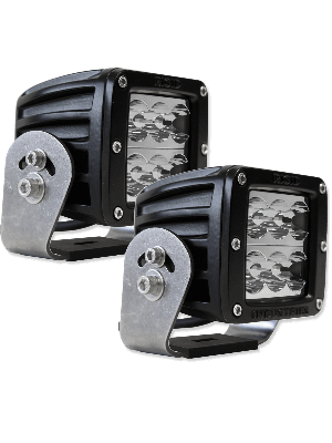 Rigid RIG52211 Dually HD Series Cube Wide Lights - Black (Pair)