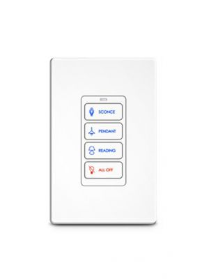 RTI RK1+4 4 Button In-Wall Keypad (White) (RK1)