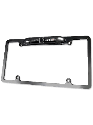 Accele RVC800IRB2 Metal License Plate CCD - Black