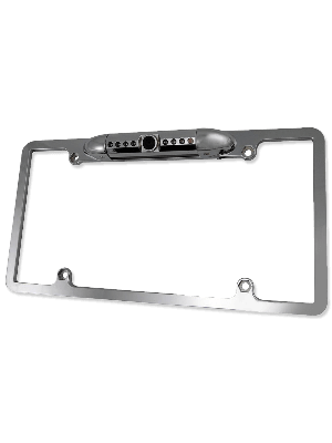 Accele RVC800IRC2 Metal License Plate CCD - Chrome