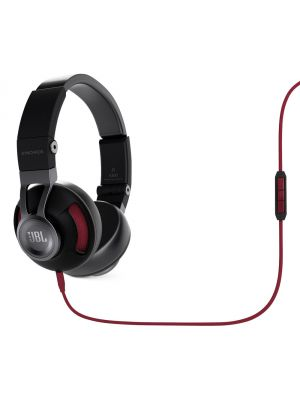 JBL Synchros S300i On-Ear Headphones with iOS Compatible In-Line Controls (Black and Red)