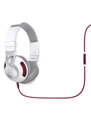JBL Synchros S300A On-Ear Headphones with Android Compatible In-Line Controls (White and Red)