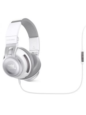 JBL Synchros S500 Powered Over-Ear Headphones with Livestage (White)