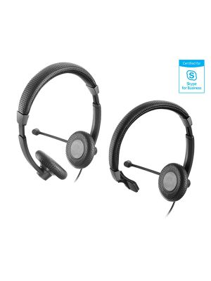 Sennheiser SC40/70USB Contemporary CulturePlus™ Headset w/ ActiveGard® Hearing Protection Certified for Skype for Business