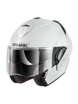 Shark Evoline 3 ST Discovery Division Motorcycle Helmet - Solid Colors Black / White - HE9250D