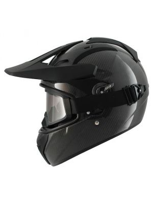 Shark Explore-R Black Carbon Discovery Division Motorcycle Helmet - HE5900DDSK