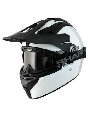 Shark Explore-R Discovery Division Motorcycle Helmet Black / White - HE5910DWHU