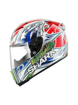 Shark Race-R Pro Corser Replica Racing Division Motorcycle Helmet - Red / White / Blue - HE8535DWRG