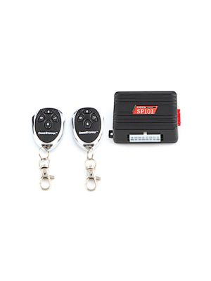 CrimeStopper SP-101 1-way Car Alarm and Keyless Entry Security System with Two 4-Button Remote Transmitters (SP101)