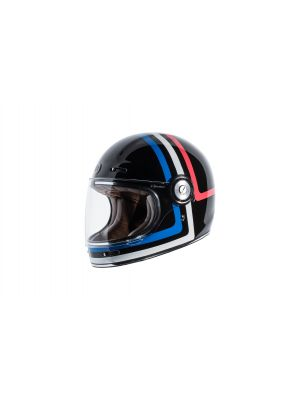 TORC T105AMT24 T-1 Retro Full Face Helmet [Americana Tron Graphic] (Large)