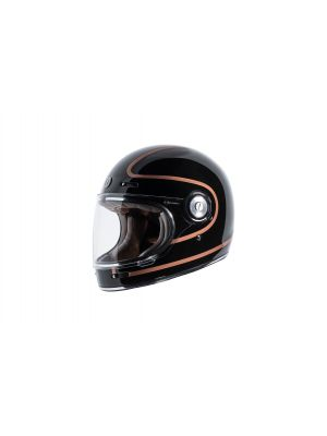 TORC T105COP22 T-1 Retro Full Face Helmet [Copper Pin Graphic] (Small)