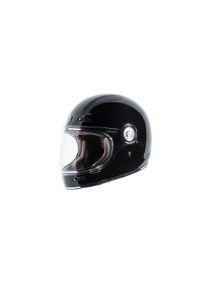 TORC T105:24 T-1 Retro Full Face Helmet [Gross Black Solid] (Large)