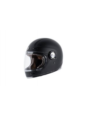 TORC T115:26 T-1 Retro Full Face Helmet [Matte Black Solid] (XX-Large)