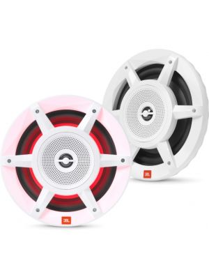 "JBL STADIUM Marine MW8030AM 8"" three-way Convertible Marine Speaker with RGB Lighting (White)"