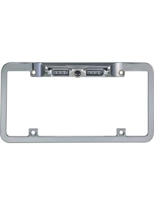 BOYO VTL200CIR Night Vision License Plate Camera CMOS With Built-in Parking Guide Lines CMOS Lens (CHROME FULL FRAME)