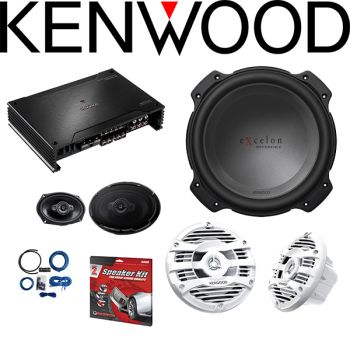 Kenwood Excelon X802-5 X Series 5-channel car amplifier & Kenwood Excelon XR-W1204 12