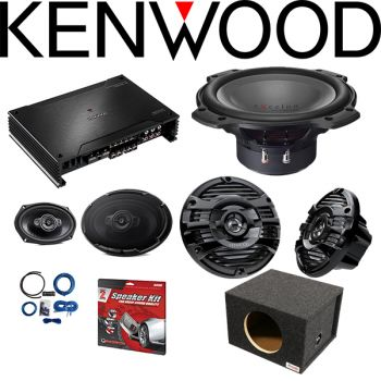 Kenwood X802-5 X Series 5-channel car amplifier & Kenwood XR-W1004 10