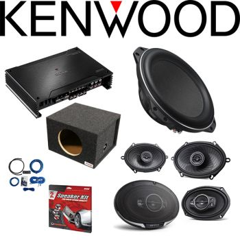 Kenwood Excelon X802-5 X Series 5-channel car amplifier& Kenwood XR-W10F 10