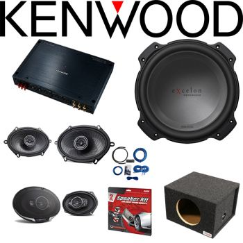 Kenwood Excelon XR901-5 5-channel car amplifier & Kenwood KFC-C5796PS 5
