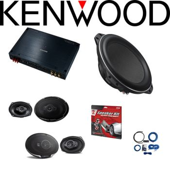 Kenwood Excelon XR901-5 Reference Series 5-channel car amplifier & Kenwood Excelon XR-W10F 10
